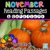 November Nonfiction Reading Passages ~ Finding Evidence ~ Making Inferences