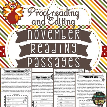 November Reading Passages: Proofreading and Editing