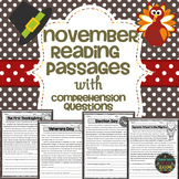November Reading Comprehension Passages