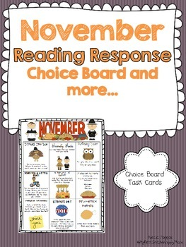 November Reading Response Choice Board