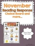 November Reading Response Choice Board