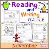 November Reading and Writing Practice