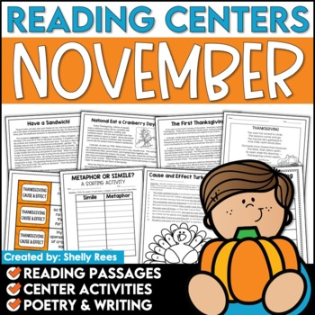 Reading Comprehension Passages and Questions - November Reading Unit
