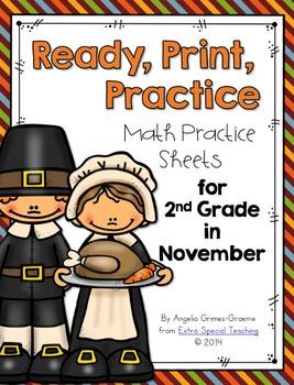 November Ready, Print & Practice Math Sheets