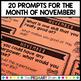 November Reflection Prompt Cards