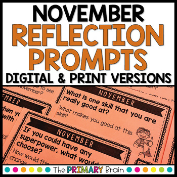 November Reflection Prompt Cards