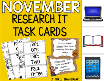 November: Research It Task Cards