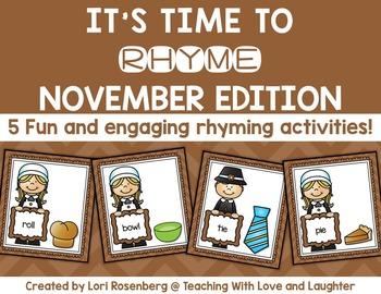 November Rhyming Activities