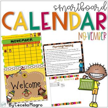 November SMARTBoard Calendar ***Common Core Aligned*** First Grade