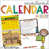 November SMARTBoard Calendar ***Common Core Aligned*** First Grade