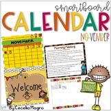 November SMARTBoard Calendar Morning Meeting First Grade