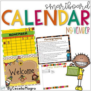 November SMARTBoard Calendar Morning Meeting First Grade