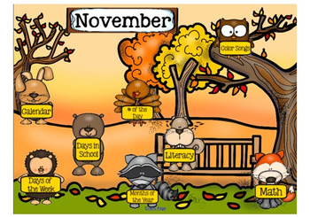 November SMARTboard Morning Meeting with Calendar and Much More!