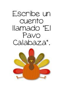 November SPANISH QR Code Writing Prompts