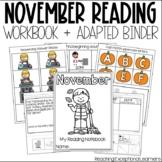 November SPED Adapted Reading Binder