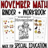 November Math Adapted Binder