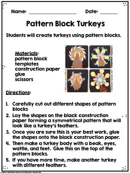 November STEM 12 Challenges Fall Autumn Thanksgiving