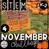 Thanksgiving STEM K-2 Challenges (November)