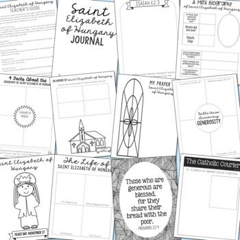 November Saints BUNDLE of Notebook Journal Projects, Catholic Resources