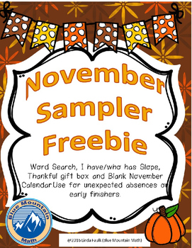 November Sampler Freebie
