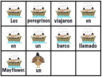 November Scambled Sentences in Spanish