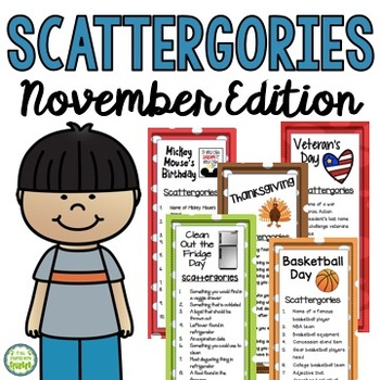 November Scattergories Games