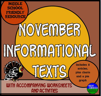 November Informational Text- Thanksgiving and More!