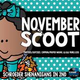 November Scooting through the year - Prefixes/Suffixies, Nouns, +/- 10/100