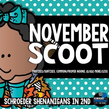 November Scooting through the year - Prefixes/Suffixies, Nouns, +/- 10/100