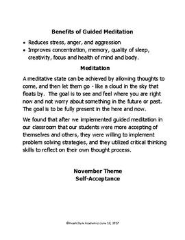 November Self-Acceptance Guided Meditation