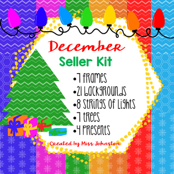 December Seller Kit {Clipart, Papers, Buntings, Frames}