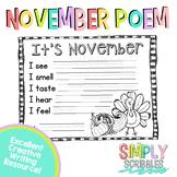 November Sensory Poem