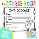 October Sensory Poem - FREEBIE!