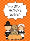 November Sentence Builders