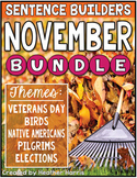 November Sentence Builders BUNDLE