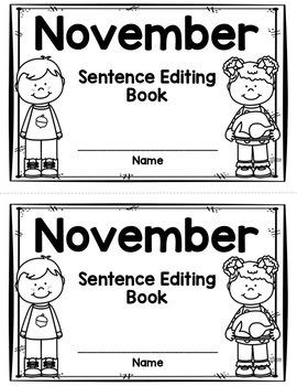 Sentence Editing - November