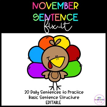 November Sentence Fix-It