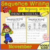November Sequence Writing for Beginning Writers