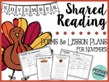 November Shared Reading: Poems and Lesson Plans