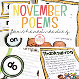 November Shared Reading (Sight Word Poems)
