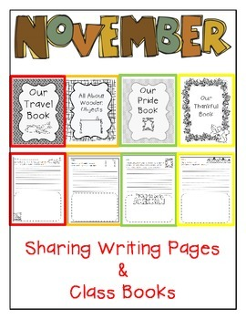 November Sharing Writing Pages and Class Books