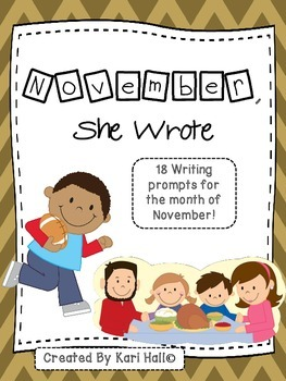 November, She Wrote!  My November Writing Journal {18 prompts!}
