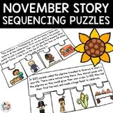 November Short Story Sequencing Jigsaws