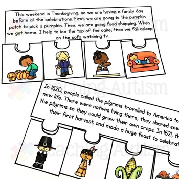 November Short Story Sequencing Jigsaws
