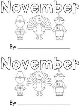 November Sight Word Book