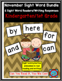 November Sight Word Bundle: 6 Emergent Readers/Writing Res