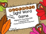 November Sight Word Card Game Aligned to Journeys Lessons 11-20