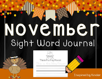 November Sight Word Journal-Print and Go!