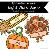 November Sight Word Splat Center/Game (Primer)