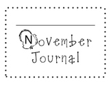 November Sight Word of the Day Journal